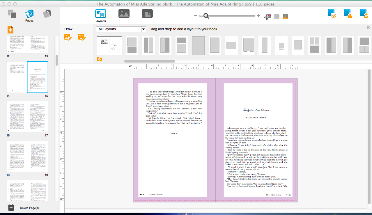 Blurb and bookwright double review finish that novel for Blurb indesign template