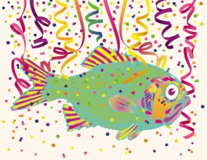 Hey, if confetti fish make it more fun... Image credit: Billy Alexander